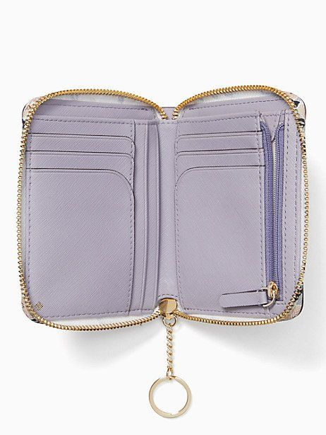 344bbab50 Kate Spade Cameron Micro Floral Small Slim Continental Wallet, Icy Lavender
