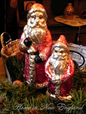 Vintage Glass Santa Christmas Ornaments like Sue Ann's special ornament from her grandmother.