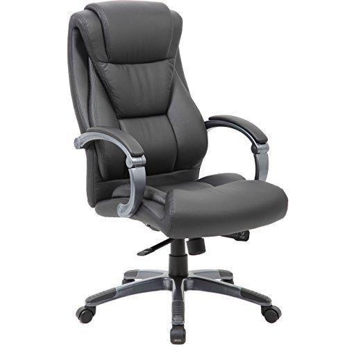 large executive office chair sleek neutral design dual wheel