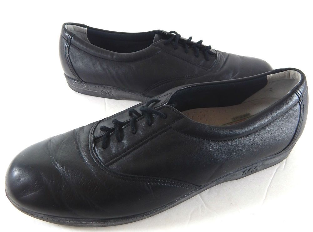 43bb10770db SAS black LEATHER LACE UP OXFORDS CASUAL SHOES WOMEN S 10 S  SAS  Oxfords