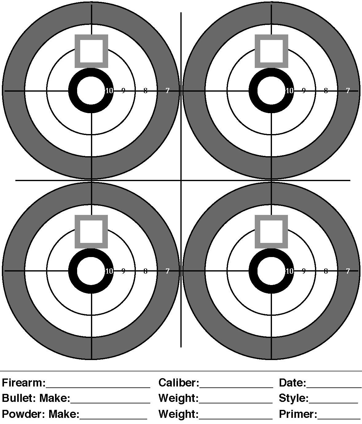 It is a photo of Witty Pistol Targets Pdf