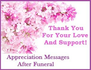 Appreciation Messages Bereavement Thank You Card Wordings