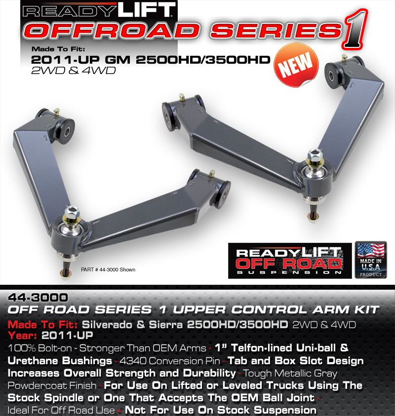 ReadyLift Uniball Upper control Arms GM 2500/3500 HD 2WD