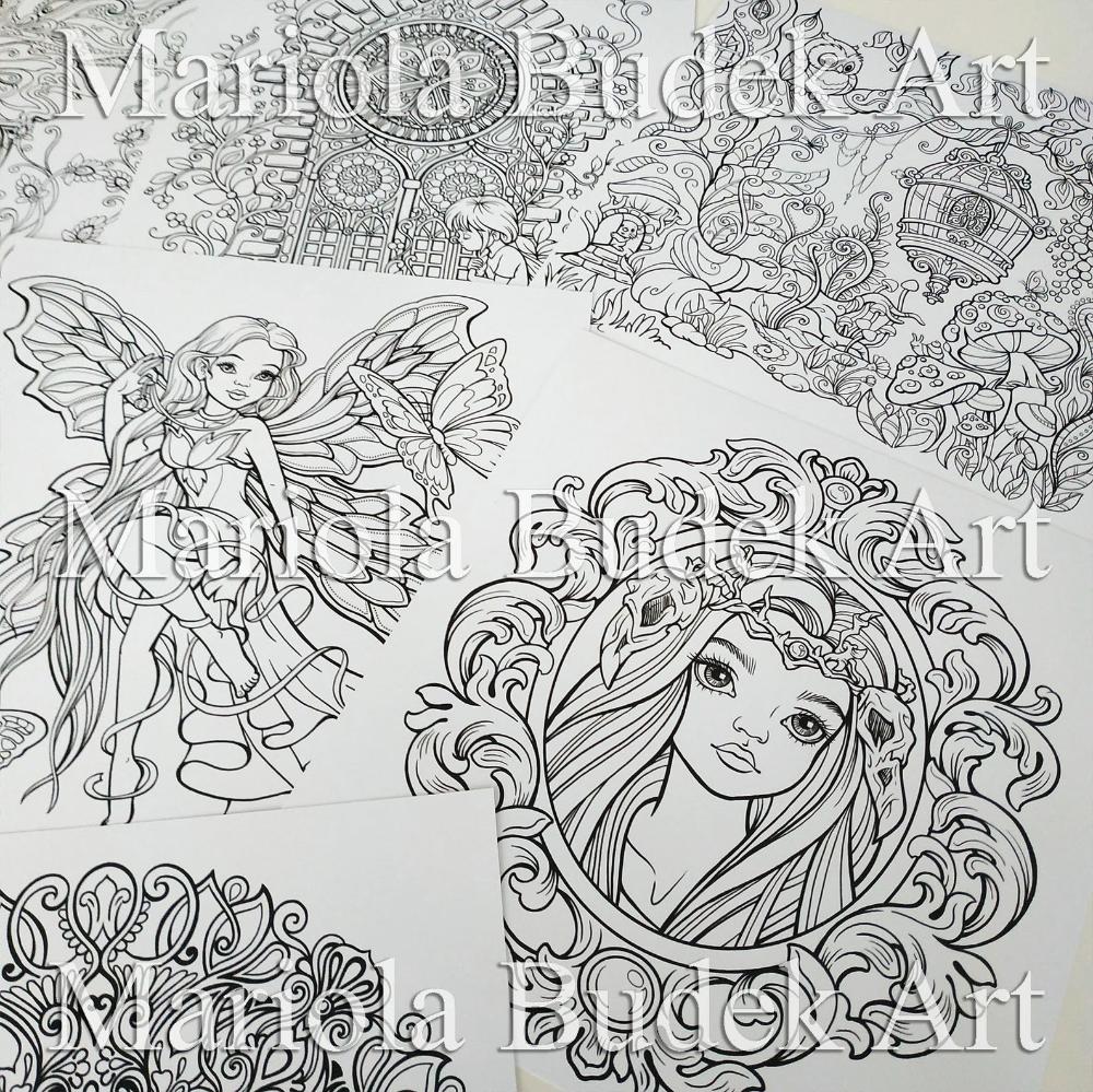 Kraina Basni Mariola Budek Coloring Book 16 Bonus Pages In 2020 Coloring Books Coloring Pages Color
