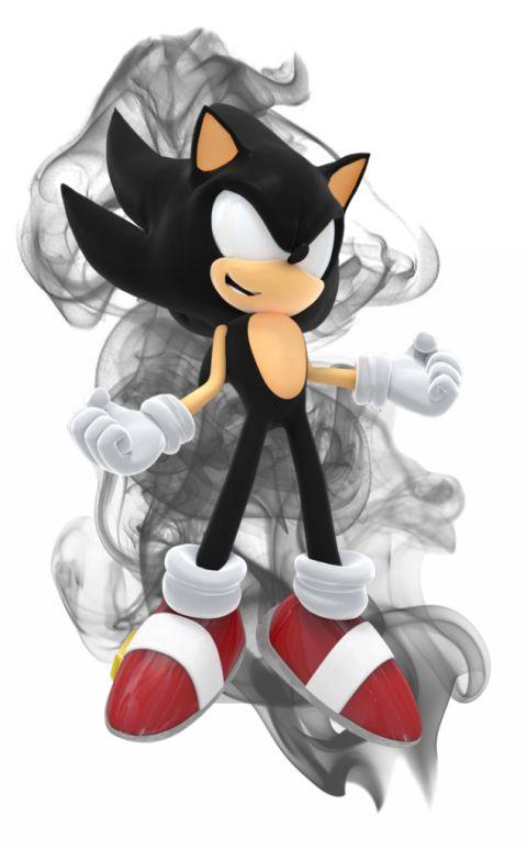 I Present Dark Super Sonic One Of Sonic S Super Forms Sonic