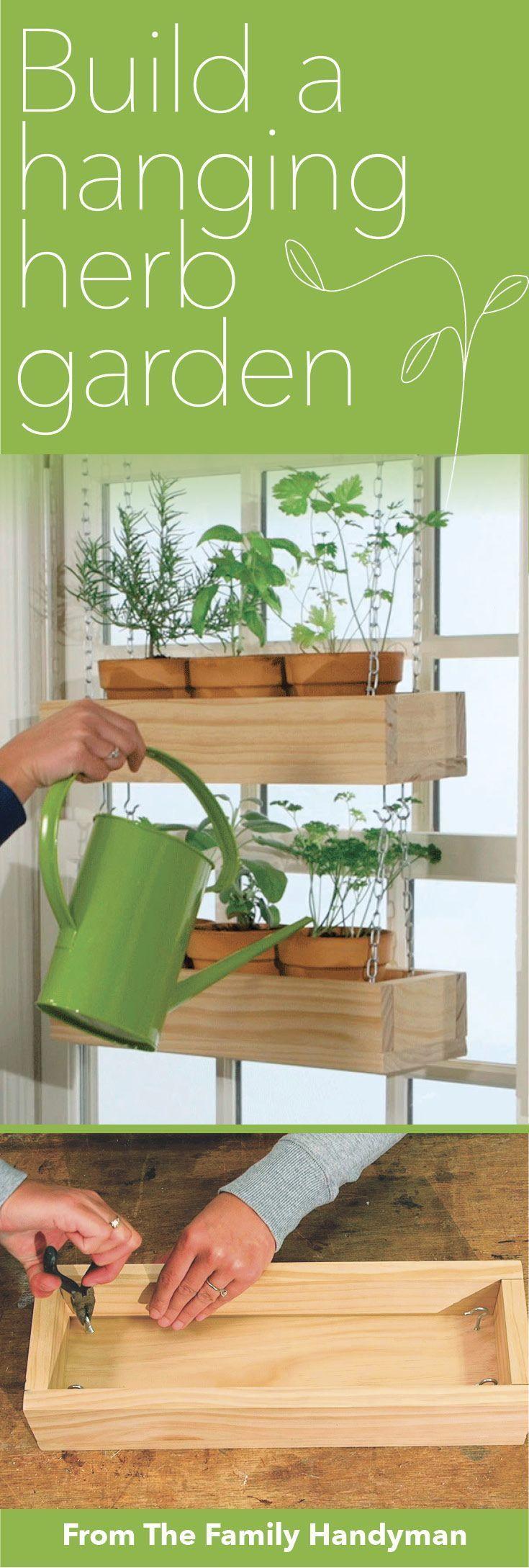 How to Build an Indoor Hanging Herb Garden Diy herb