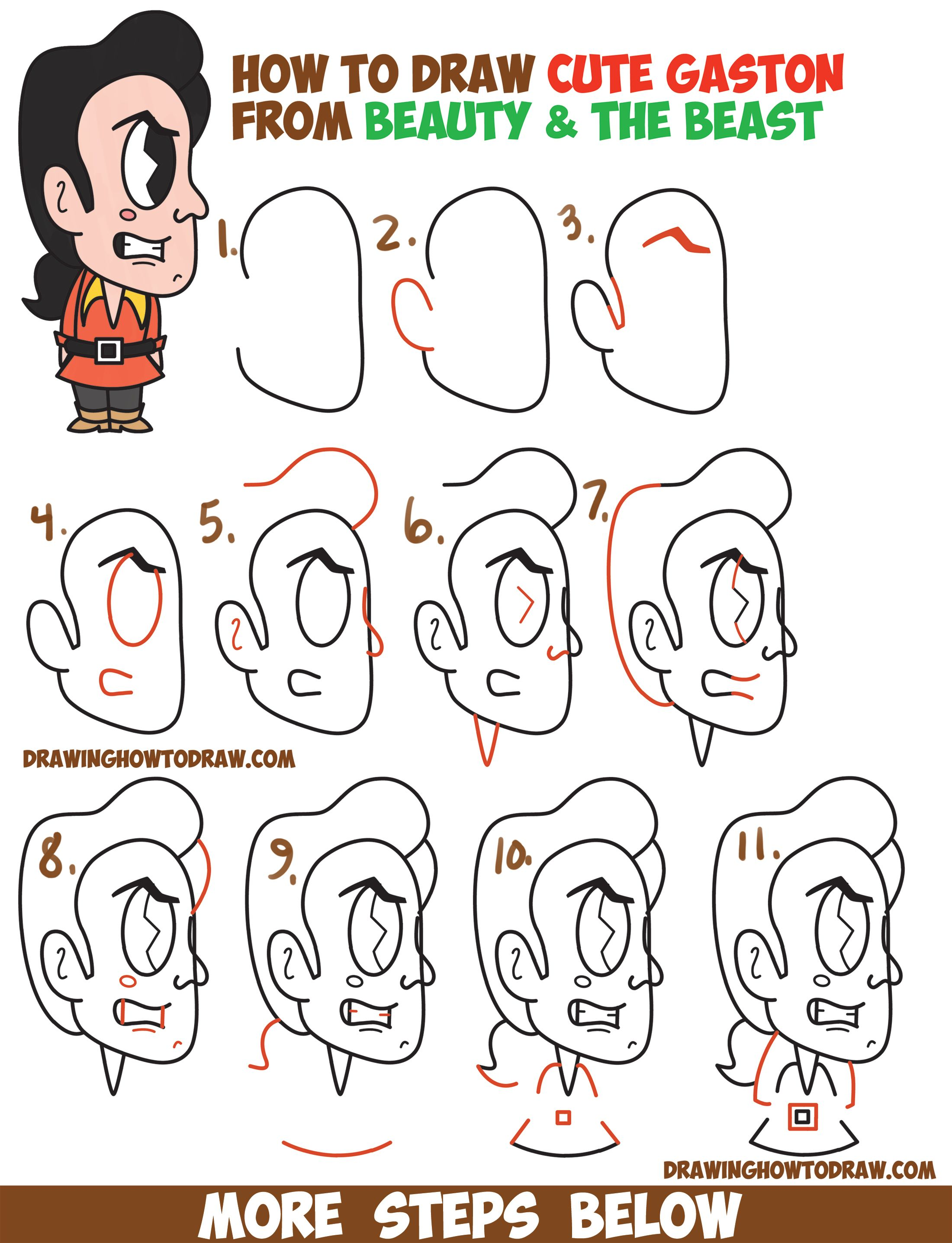 how to draw easy characters step by step