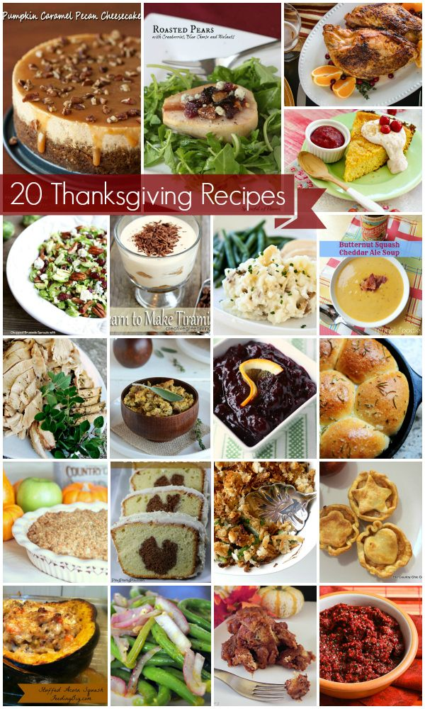 20 Tasty Thanksgiving Recipes #thanksgivingrecipes
