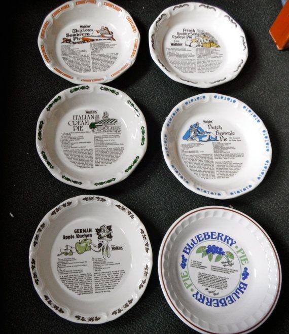 Unique Pie Plates | Five 10 Inch Deep Dish Pie Plates With Recipes Five Watkins & Five 10 Inch Deep Dish Pie Plates With Recipes Five Watkins | Pie ...