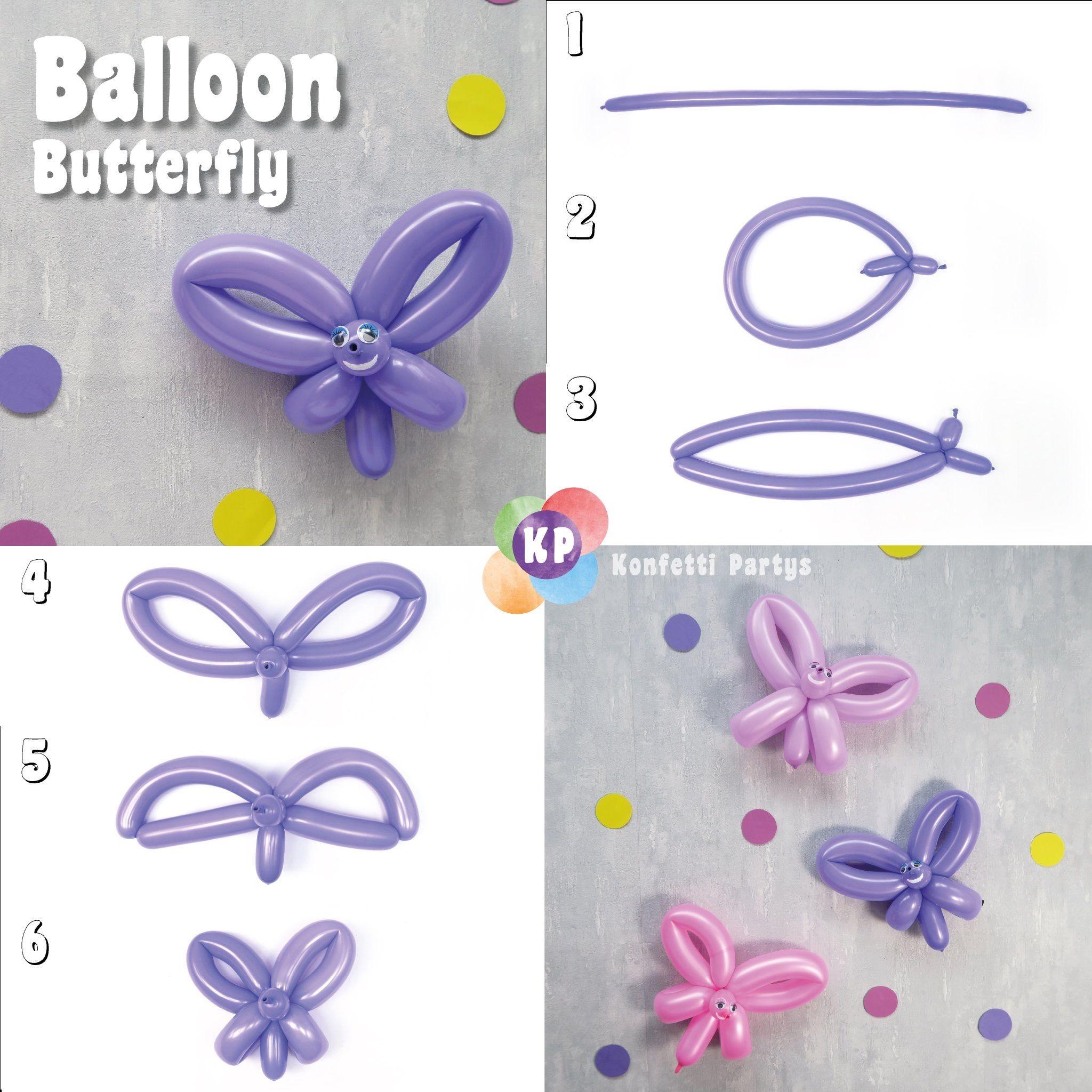 Extrem Butterfly Balloon DIY Schmetterling Ballon selber machen US11