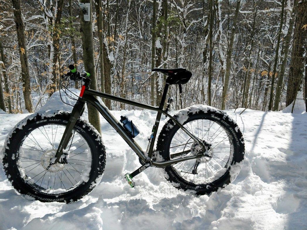 Winter Ride Cannondale Fat Caad 2 Mountain Biking Pinterest