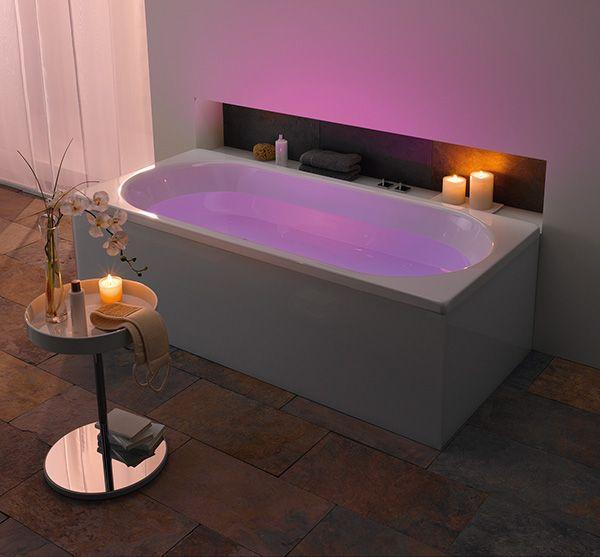 Romantic Bathroom Lighting Ideas: Kaldewei Bathroom With LED Mood Lighting