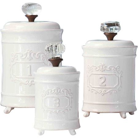 Circa 3 Piece Kitchen Canister Set | Dining room buffet, Canister ...