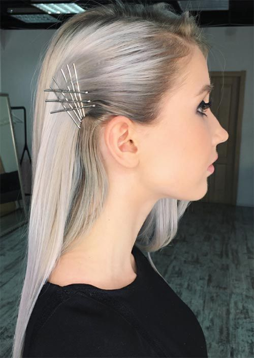Creative Exposed Bobby Pin Hairstyles Ideas Bobby Pin Hairstyles Medium Hair Styles Hair Styles