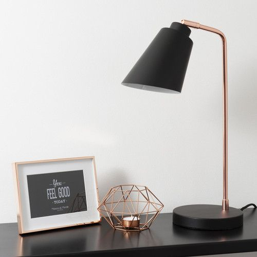 lampe en m tal jessie black copper maisons du monde. Black Bedroom Furniture Sets. Home Design Ideas