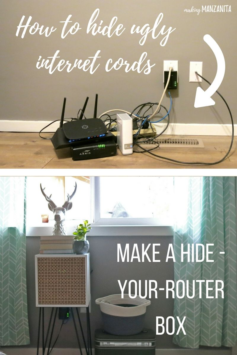 How To Hide Router Cords With A Mid-Century Side Table ...