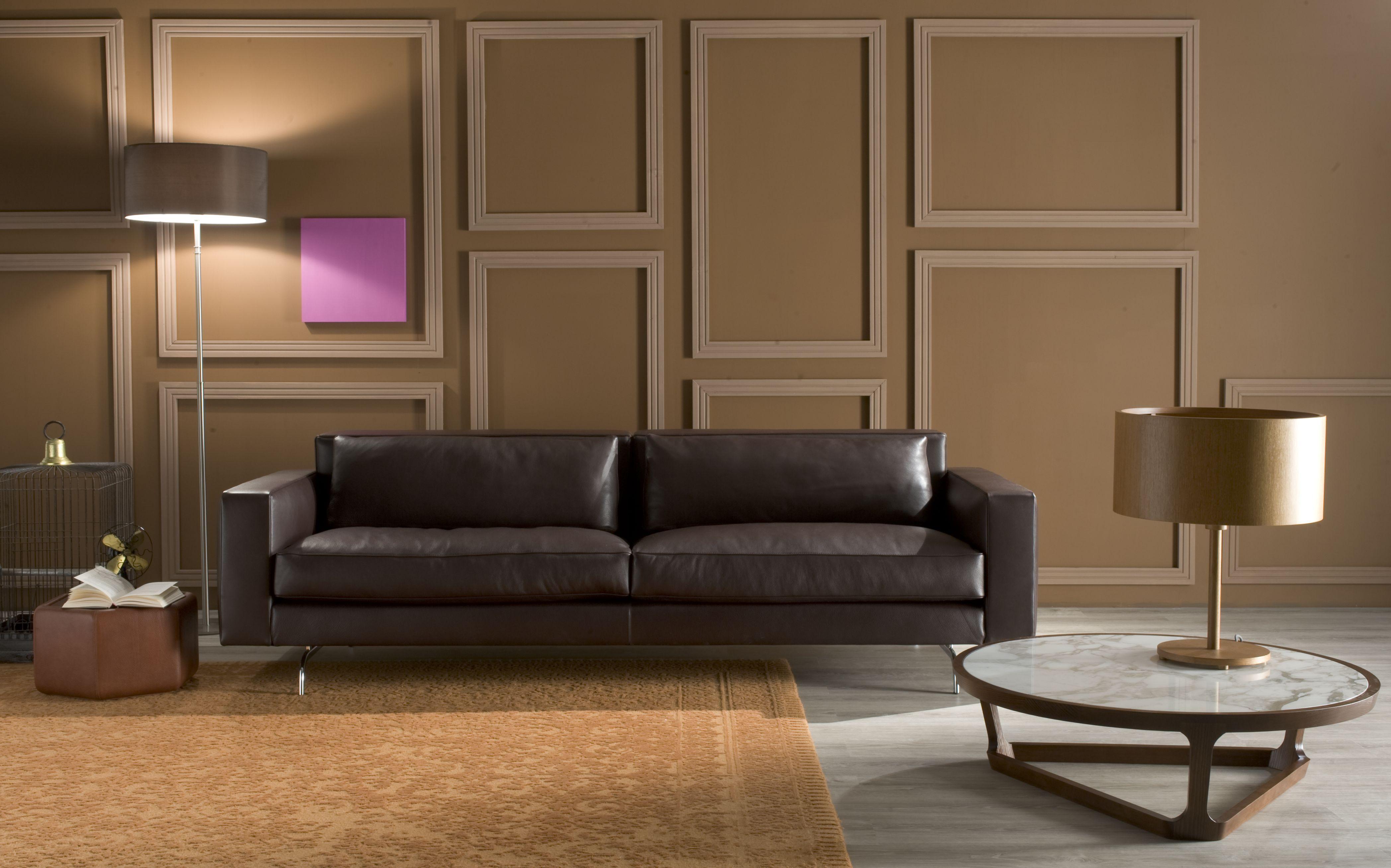 Molinari Sedie ~ Amadeus in dark brown natural leather walls decorations