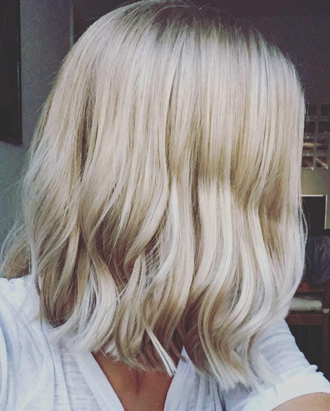 Longbob Mittellanges Haar Blond Girl Frisur Frisurideen
