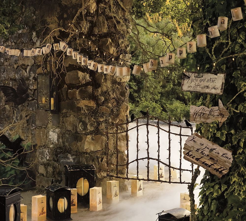 From Pottery Barn No cheesy witches here just the real deal - Halloween Yard Decorations Ideas