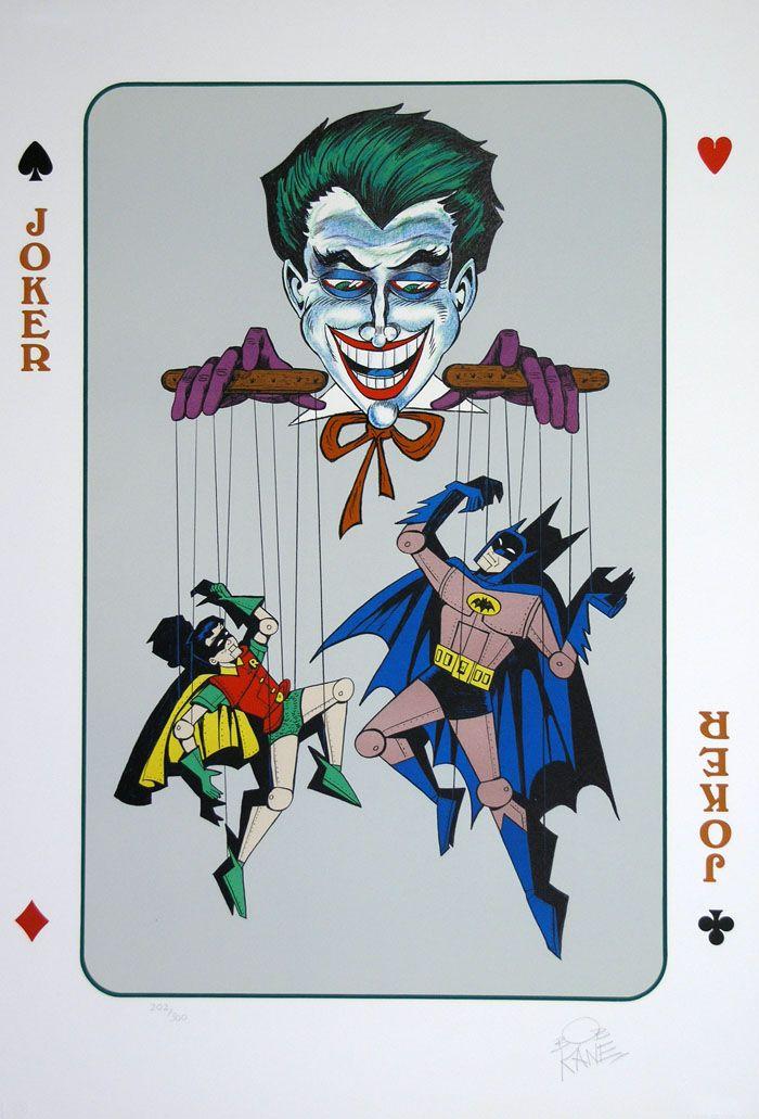 Joker Bob Kane Lithograph Color Batman Joker Posters Joker