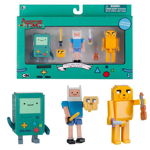 Adventure Time 2 3 4 Inch Pixel Action Figure 3 Pack Adventure Time Action Figures Adventure