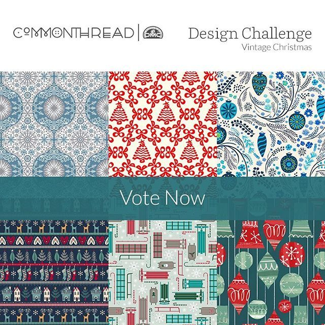 """We were amazed by all the gorgeous entries we received in our """"Vintage Christmas"""" Design Challenge with  @commonthreadusa! Now the top 100 designers who made it through to the voting round need your support! Head to our website to vote for your favorites now 🎄🎅🏻 Winners will be announced on Monday the 29th 🎁"""
