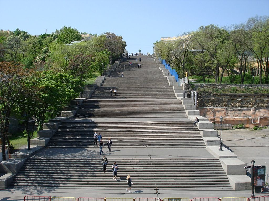 The Potemkin Stairs Is A Giant Stairway In Odessa Ukraine The