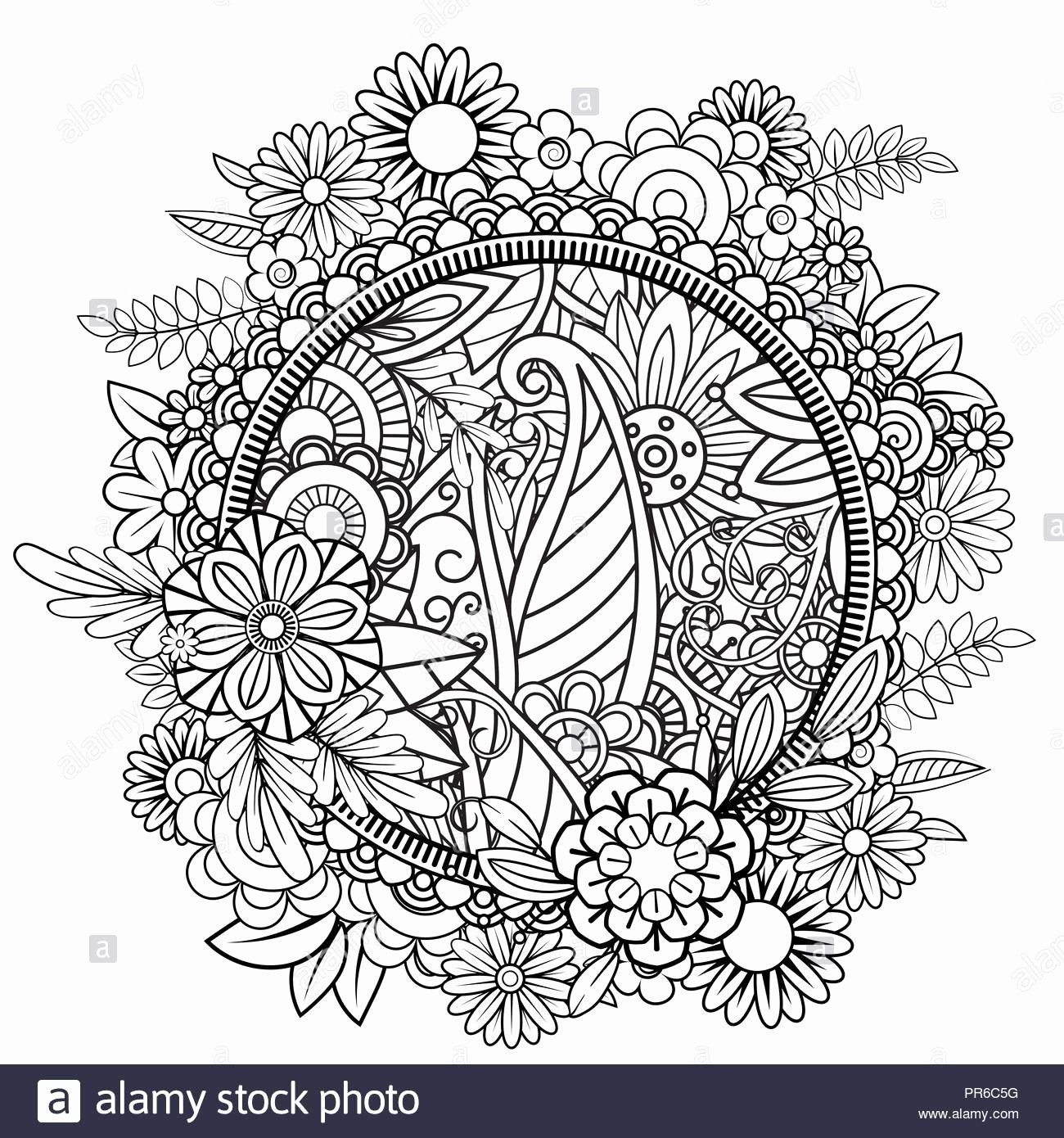 Holiday Wreath Coloring Sheet Inspirational Floral Wreath Coloring