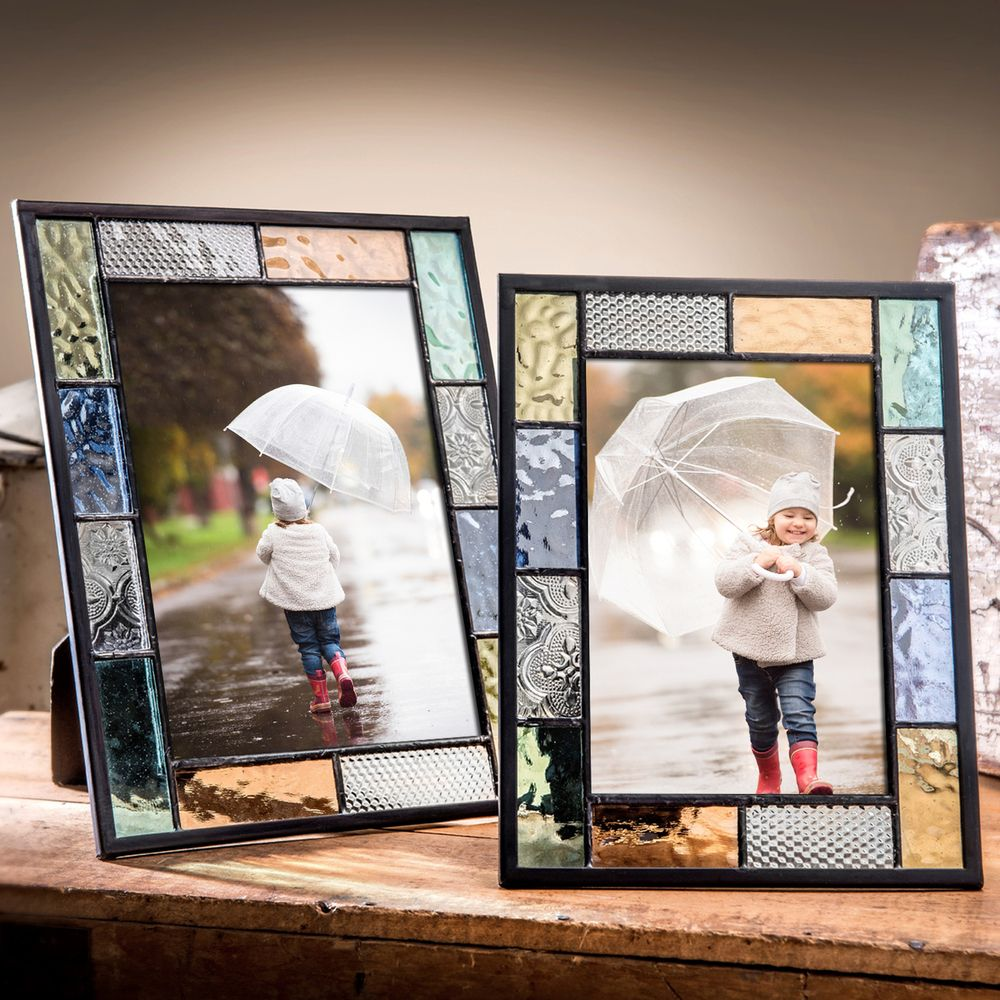 Https Www Unchartedvisions Com J Devlin Pic 412 Series Glass Photo Frames Pastel Multi Colored Stained Glass Frames Stained Glass Frames Glass Photo Frames