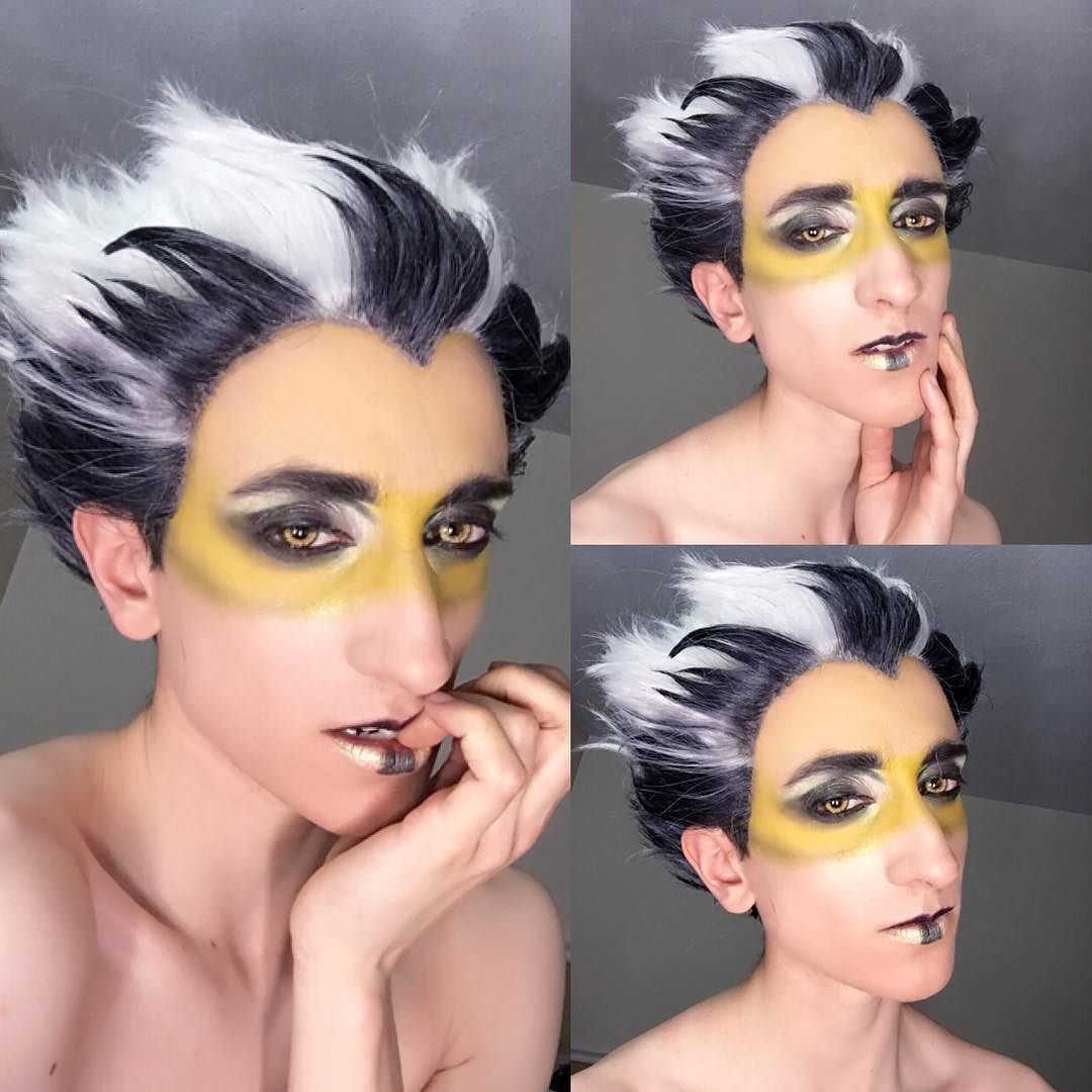 how does one make up?? ( ) ?? . I wanted a make up challenge and someone said Avant garde so I ran with it. I based it off of a photo I found and personalized it!! It the first time I did stuff like this so I'm a bit nervous  . . #haikyuu #haikyuucosplay #haikyuuseason2 #bokuto #bokutokoutarou #bokutokoutaro #makeuptest #avantgarde #cosplay #cosplaymakeup