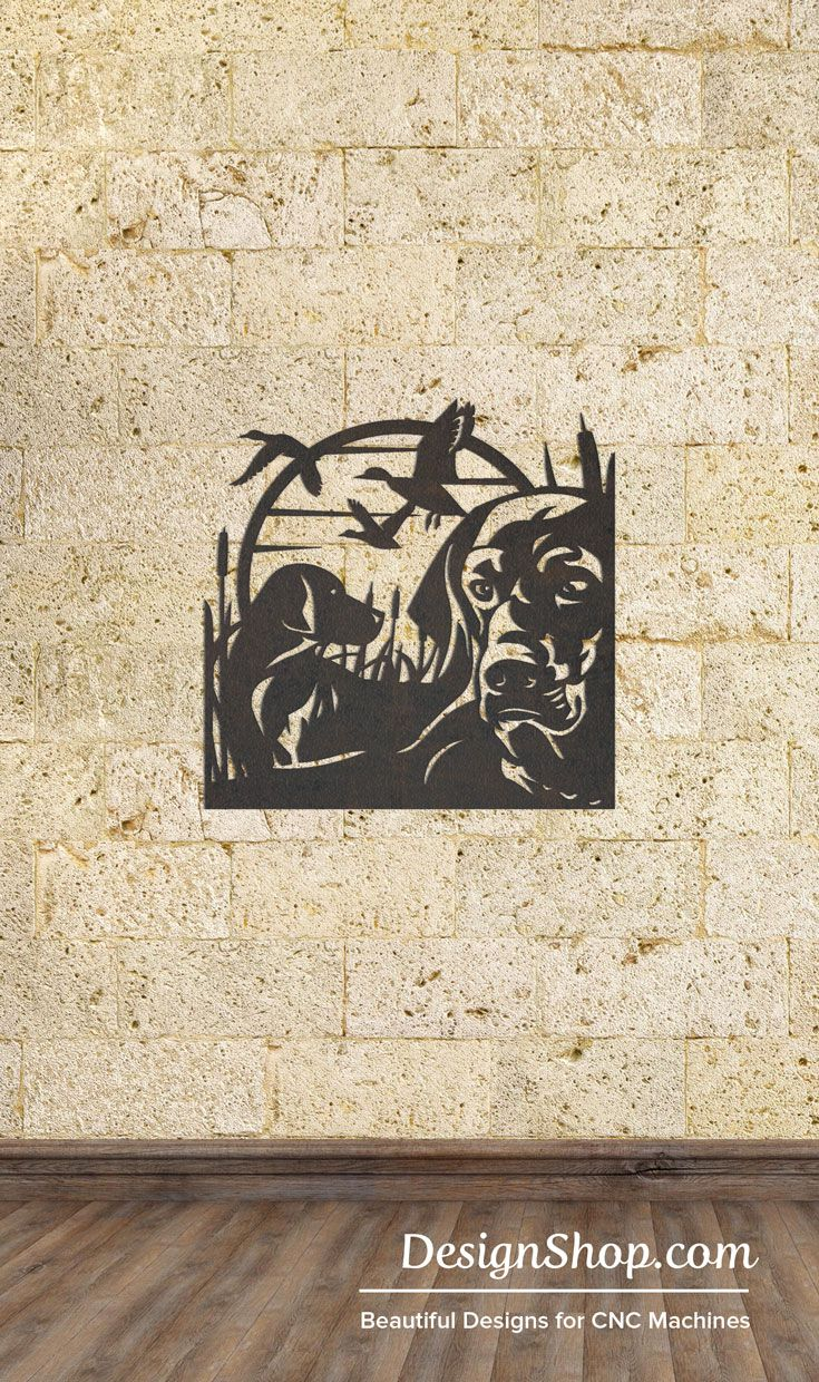 Retriever Wall Art - Cut from metal with CNC. This DXF file is ...