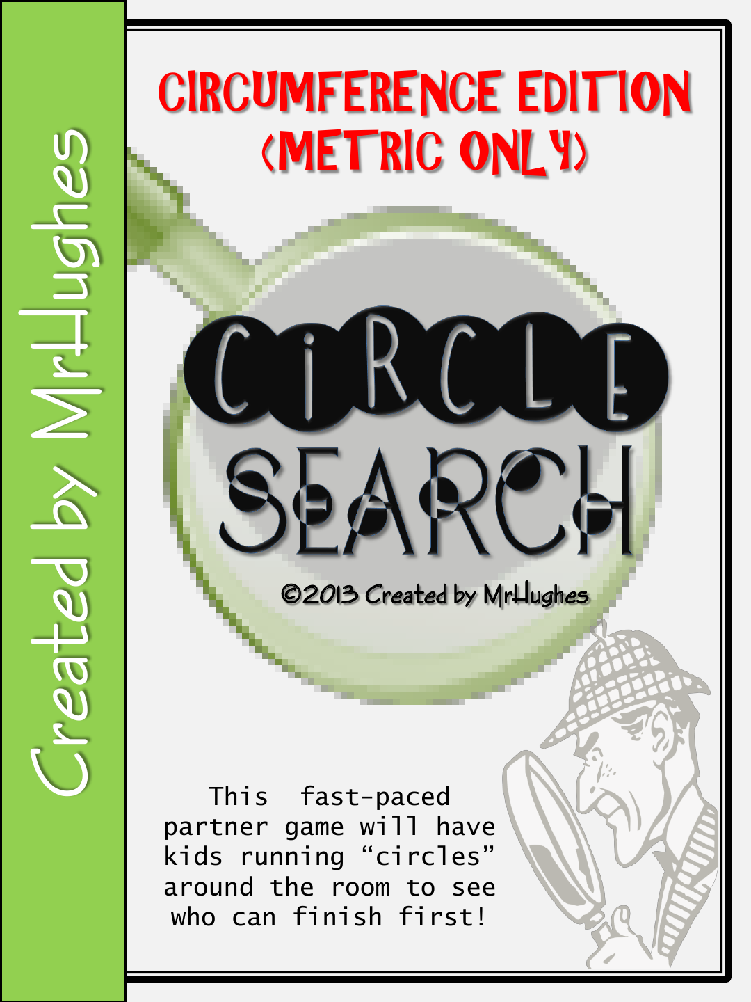 Circumference Circle Search Game