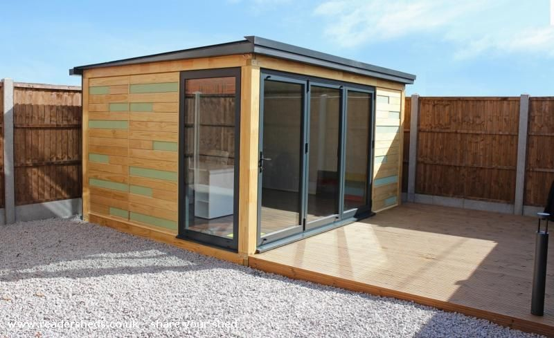 Rapod garden office is an entrant for shed of the year for Outside office shed