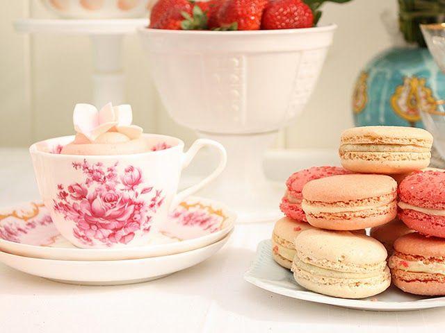 tea and maccaroons