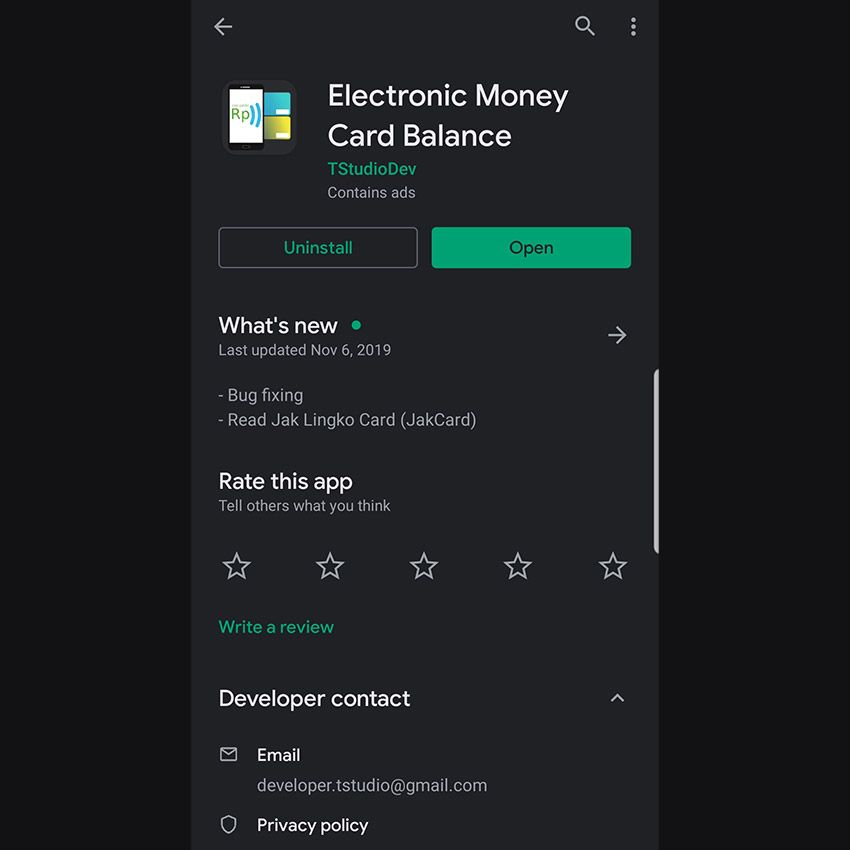 Cek Saldo E Money Di Smartphone Android Johan Surya Aplikasi Kartu Android