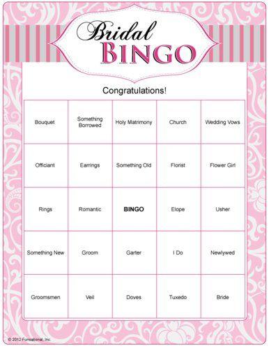 fun bridal shower printable games bridal bingo
