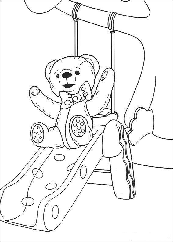 Andy Pandy Kleurplaten voor kinderen. Kleurplaat en afdrukken tekenen nº 23