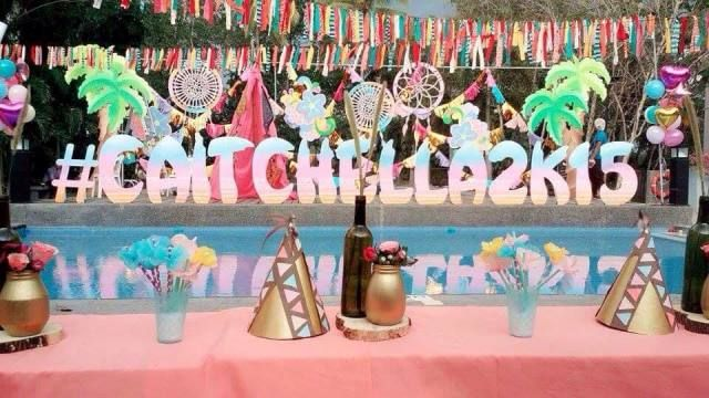 Caitlins Coachella Themed Party 1st Birthday Themed parties