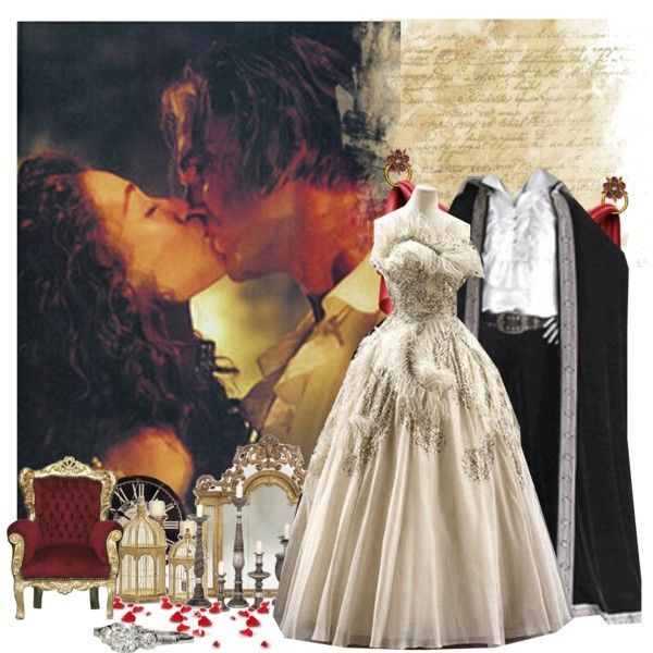 Erik and Christine - for Helleka, created by violetta-valery on Polyvore