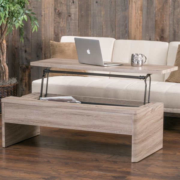 Christopher Knight Home Xander Functional Lift-Top Wood Storage Coffee Table  | Overstock.com - Xander Functional Lift-Top Wood Storage Coffee Table By