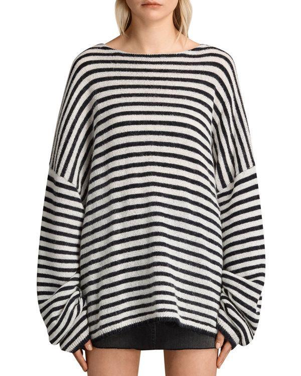 0b4eee3b47c6 Allsaints Casso Striped Crewneck Sweater   Products   Fashion ...