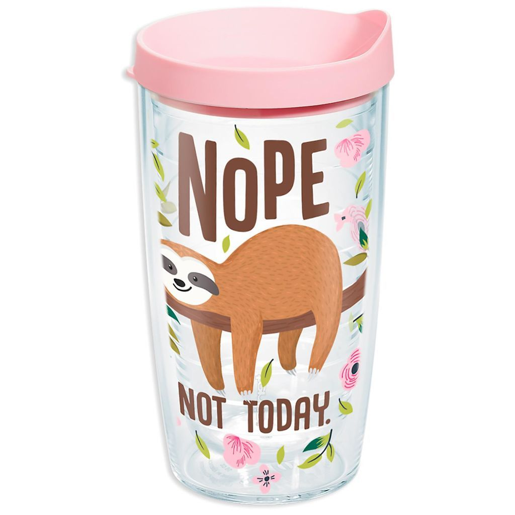 cd058e2c Tervis Nope Not Today Sloth Tumbler, 16 oz | sloths | Sloth, Tumbler ...