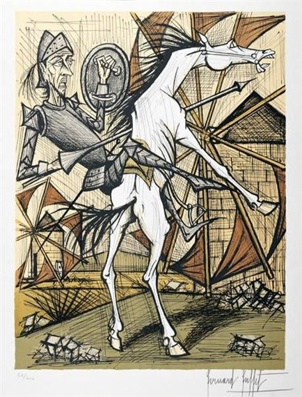 Excellent View Cervantes Don Quichotte By Bernard Buffet Access Download Free Architecture Designs Scobabritishbridgeorg