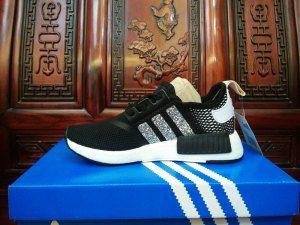 3e618015797de Womens Adidas Originals NMD R1 Sequins Black White Silver Running Shoes