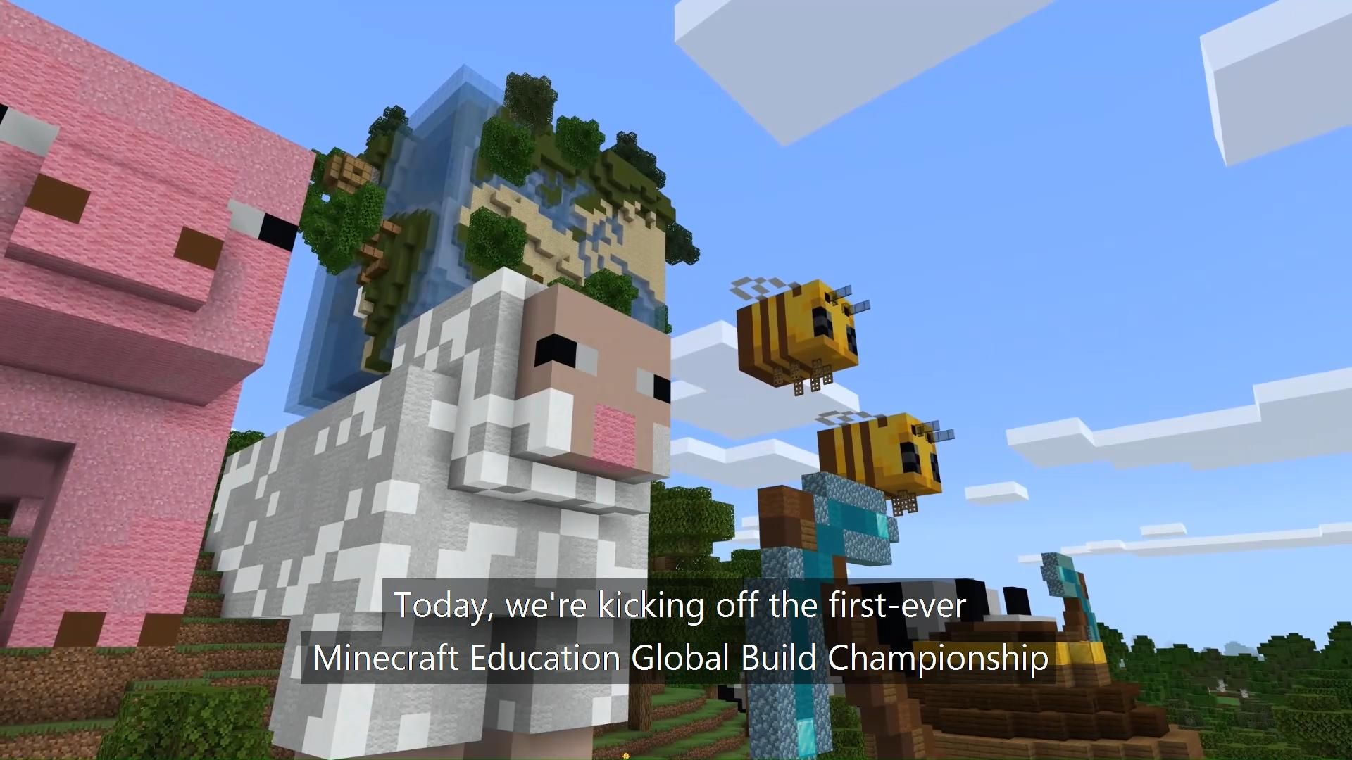 Join Students Around The World In The First Ever Minecraft Education Global Build Championship Minecraft Education Edition Video Video Minecraft Crafts Minecraft Creations Minecraft