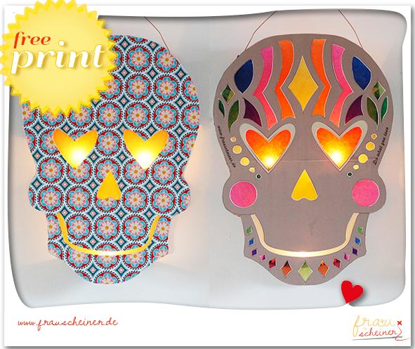Laterne Sugar Skull Happy Halloween Pinterest Basteln