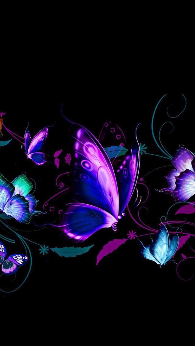Butterflies Wallpaper Purple butterfly wallpaper