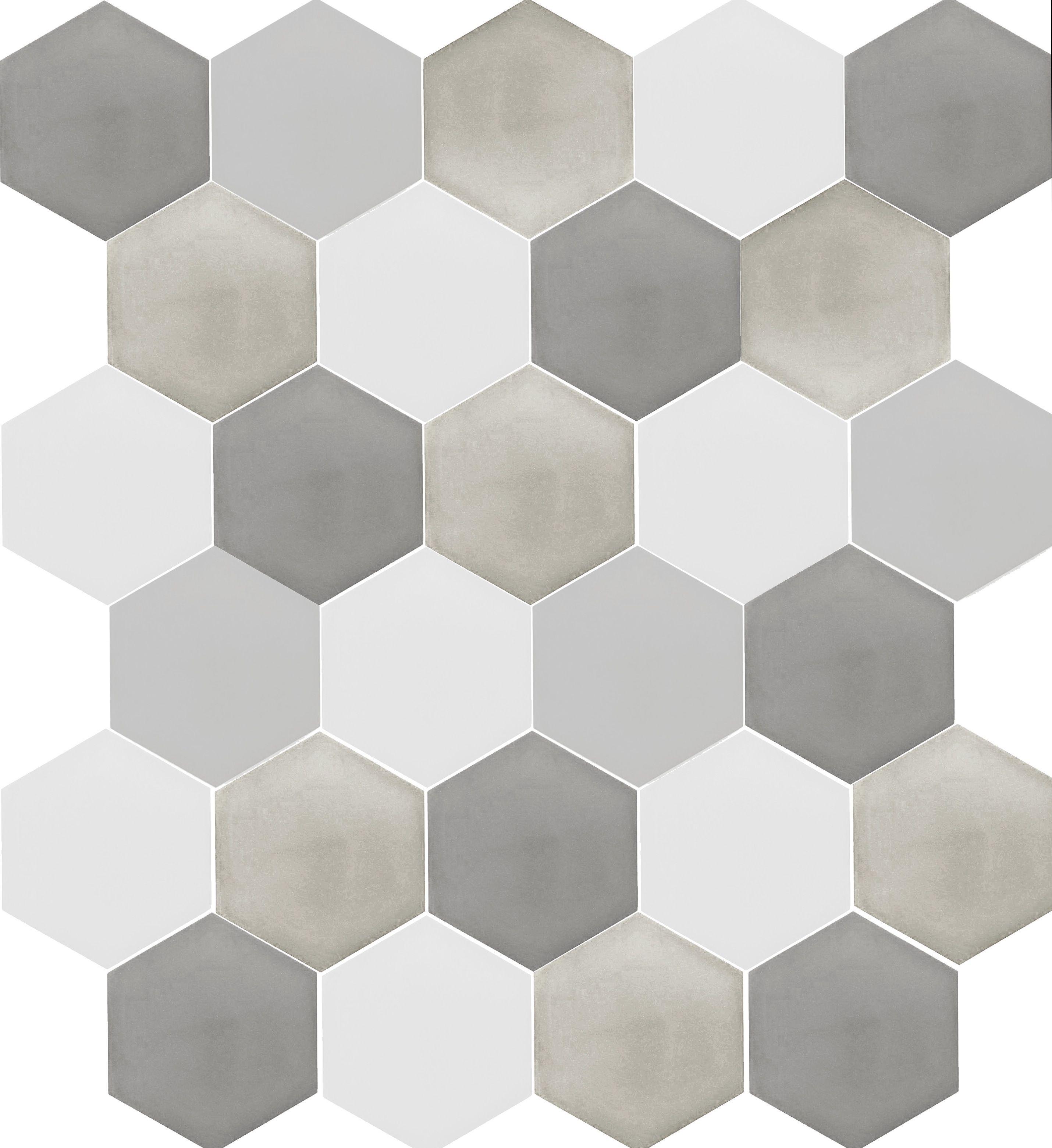 Paviment Rajola Hexagonal De Ciment En Colors Texturas Para
