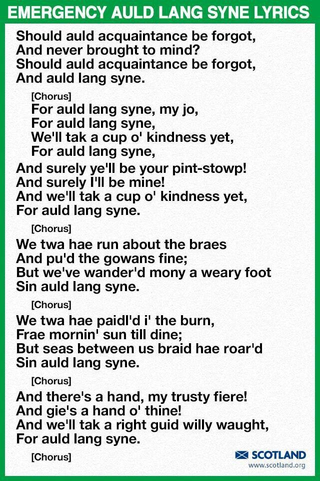 Lyric same old lang syne lyrics : Pin by Karen Easton on Scotland | Pinterest | Scotland