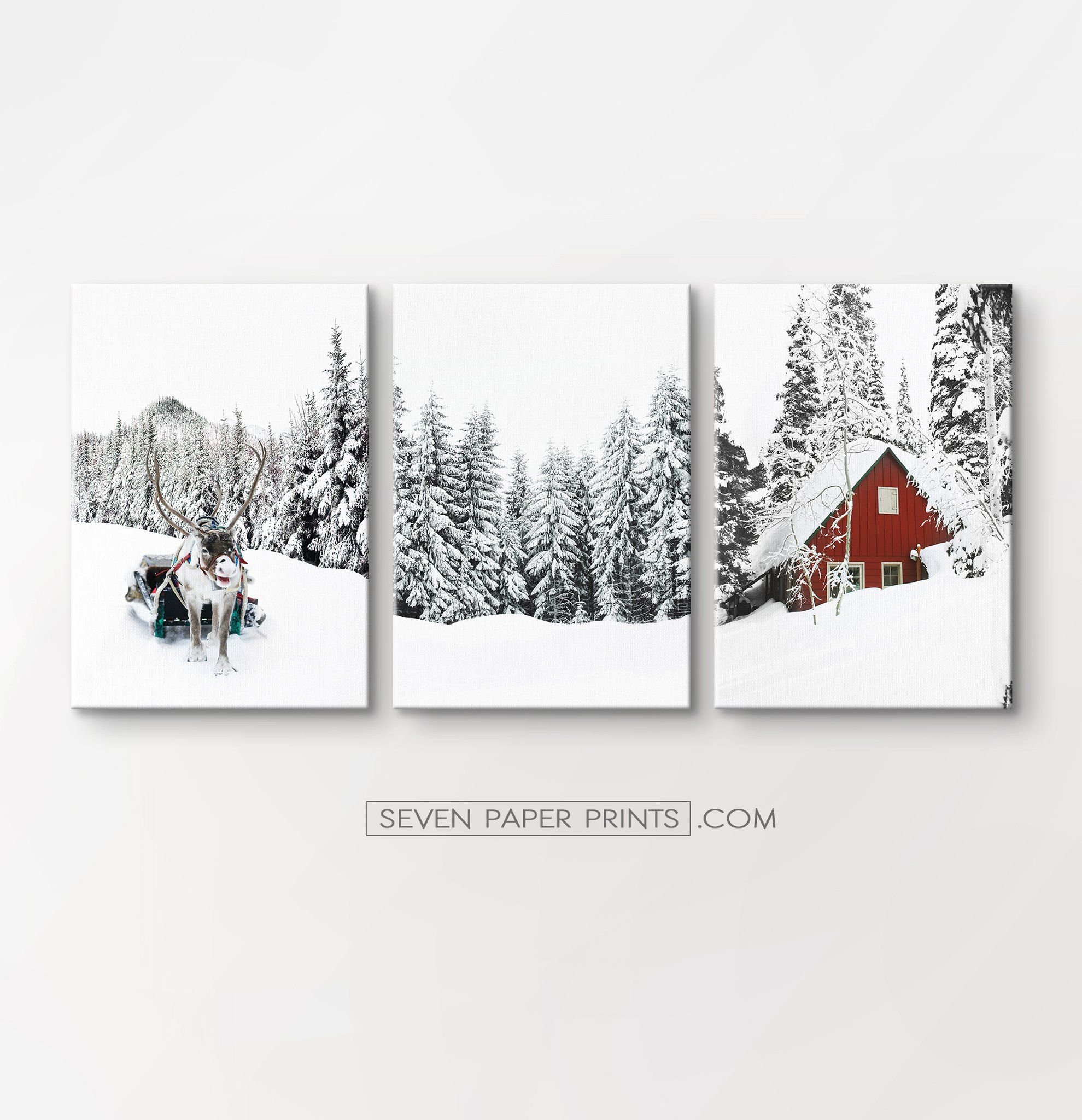 Christmas Decoration Gallery Set Of 3 Piece Wall Art Canvas Gallery Wall Gallery Wall Art Prints Christmas Gallery Wall